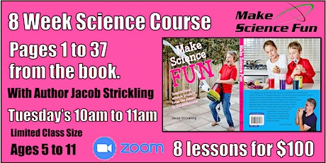 Make Science Fun the Book – Online Course - Pages 1 to 37 -  Ages 5 to 11 tickets