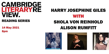 CLR Reading Series: Harry Josephine Giles tickets