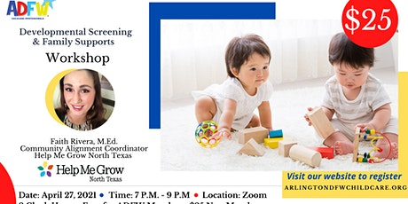 ADFW Child Care - Developmental Screening and Family Supports tickets