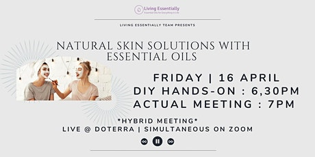 Natural Skin Solutions with Essential Oils tickets