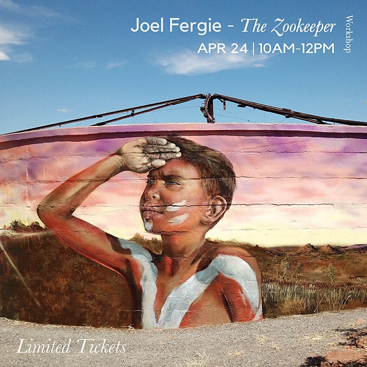 Painting workshop with Joel Fergie - The zookeeper image