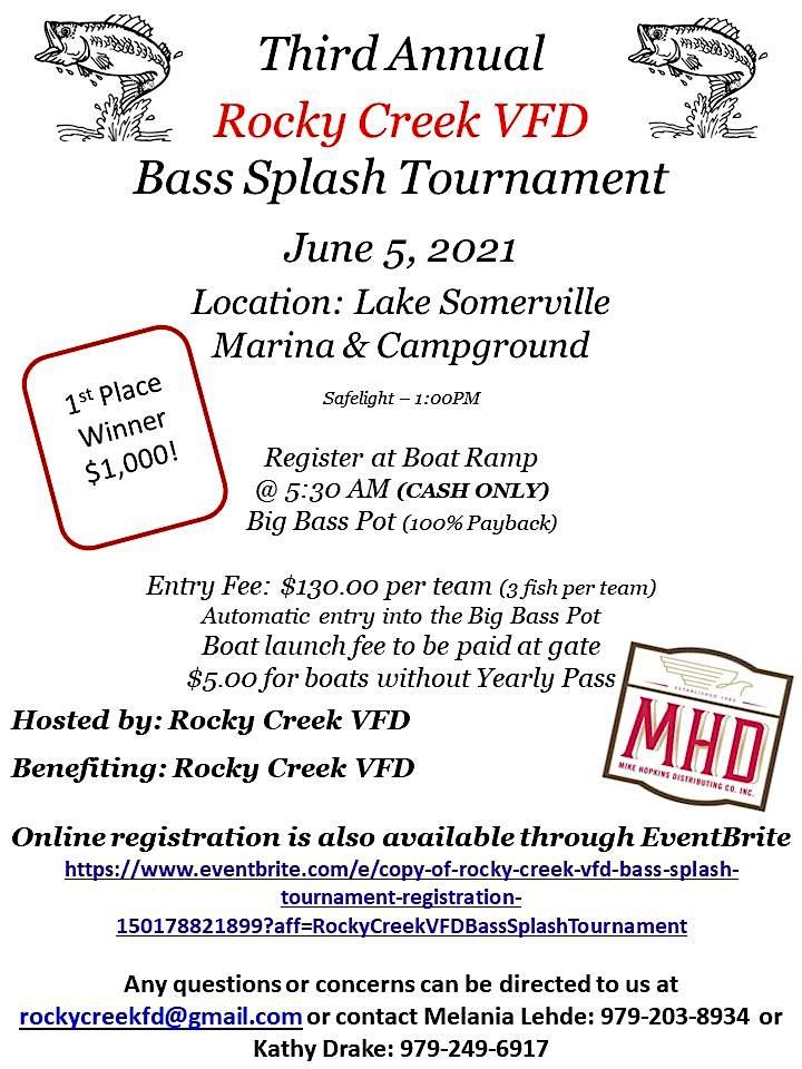 Rocky Creek V.F.D. Bass Splash Tournament image