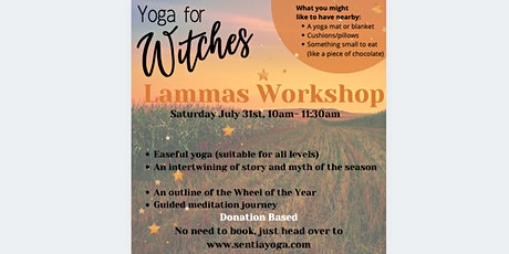 Yoga for Witches - Lammas Workshop tickets