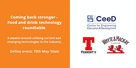 Coming back stronger - Food and drink technology roundtable tickets