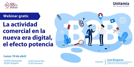 Webinar: La actividad comercial en la nueva era digital, el efecto potencia entradas