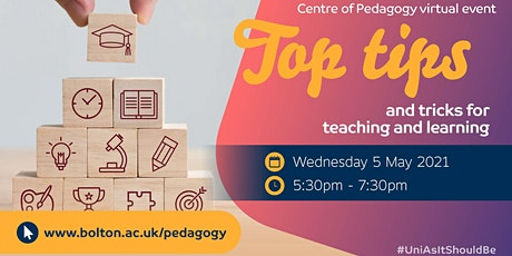 Top Tips and Tricks for Teaching and Learning - Centre of Pedagogy tickets