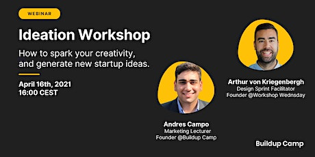 Ideation Workshop - How to generate better startup ideas tickets