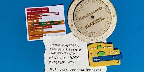 Die Welt der Geheimschrift: analog & digital programmieren Tickets