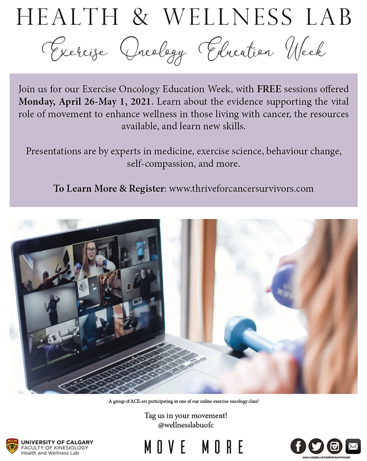 Health and Wellness Lab: Exercise Oncology Education Week image