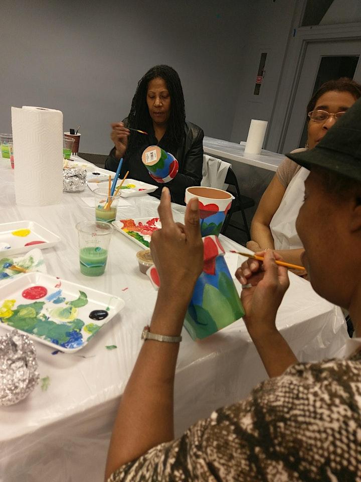 Barnes Presents! Flower Pot Paint Party image