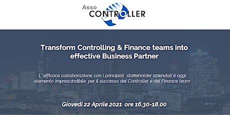 Transform Controlling & Finance teams into effective Business Partner tickets