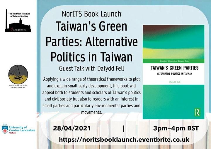 NorITS Book Launch: Taiwan's Green Parties, Alternative Politics in Taiwan image