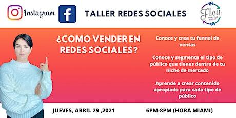 Taller  ¿CómoVender en Redes Sociales? entradas