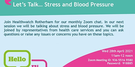 Let's Talk....Stress and Blood Pressure tickets