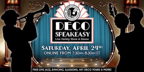 Deco Speakeasy: World Art Deco Month Celebration! tickets