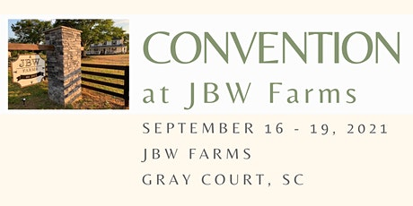 #ConventionAtJBWFarms2021 tickets
