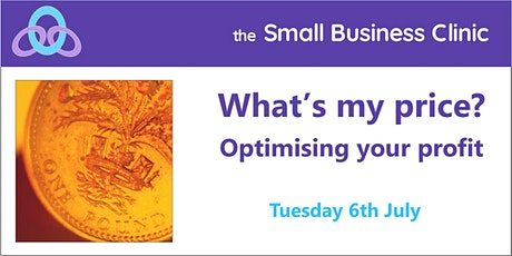 What's my price – 6th July, online workshop tickets