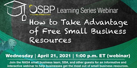 OSBP Learning Series:How to Take Advantage of Free Small Business Resources tickets