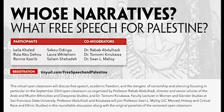 Whose Narratives? What Free Speech for Palestine? tickets