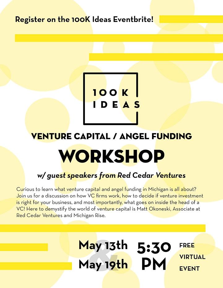 Venture Capital / Angel Funding Workshop image