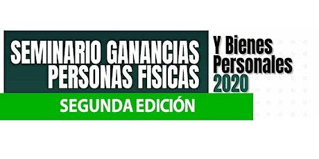 2da Edición - SEMINARIO 3 HS Ganancias P Físicas  y Bienes Personales 2020 entradas