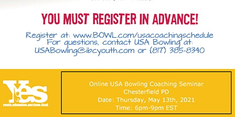 FREE USA Bowling Online Coaching Seminar - Chesterfield PD tickets