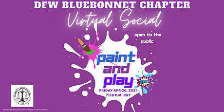 FUN with FEW Virtual Social: DFW Bluebonnet Paint and Play tickets