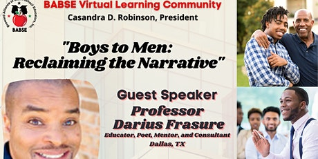 "BABSE VLC: ""BOYS TO MEN: RECLAIMING THE NARRATIVE"" tickets"