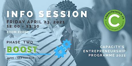 Capacity Entrepreneurship Programme | Info Session - Info Abend - BOOST Tickets