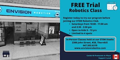 Envision Robotics - Free Trial Class (Thornhill / Markham / Toronto) tickets