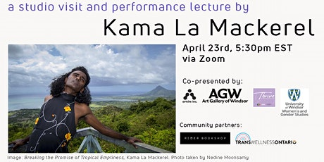 a studio visit and performance lecture by Kama La Mackerel tickets