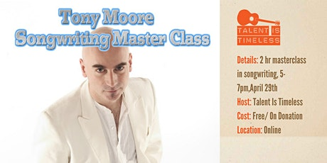Online Masterclass w/ Tony Moore (Iron Maiden/Cutting Crew) tickets