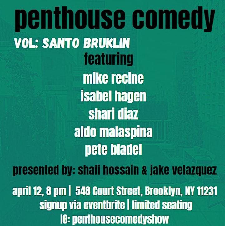 Penthouse Comedy At Santo Brúklin image