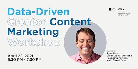 Data-Driven Creator Content Marketing tickets