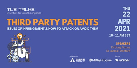 Third Party Patents - Issues of Infringement & How to Attack or Avoid Them tickets
