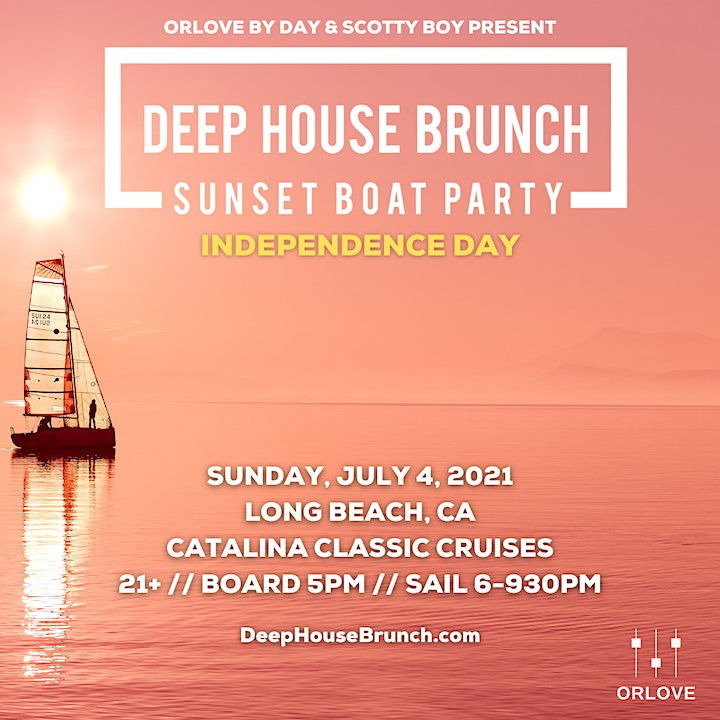 Deep House Brunch 4th of July Boat Party - SOLD OUT image