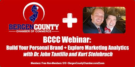 Webinar: Personal Branding + Exploring Marketing Analytics biglietti