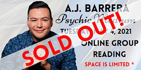 An Evening of Spirit Messages with Psychic Medium A.J. Barrera entradas