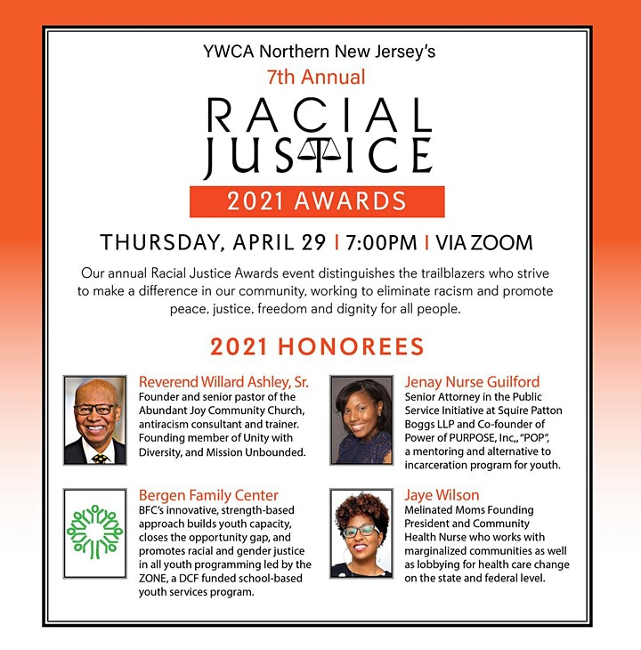 YWCA Northern New Jersey's 7th Annual Racial Justice Awards image