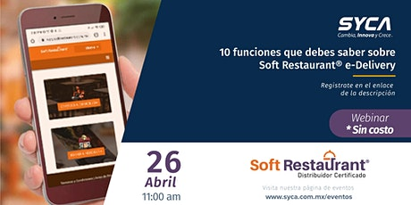 10 funciones que debes saber sobre Soft Restaurant® e-Delivery boletos