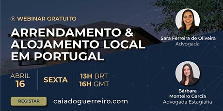 Webinar: Arrendamento & Alojamento local bilhetes