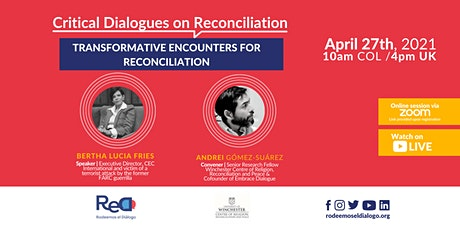 Transformative Encounters for Reconciliation tickets