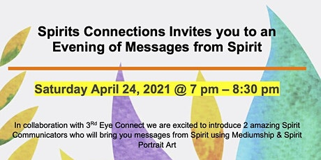 An Evening of Messages from Spirit and Spirit Portrait Art entradas