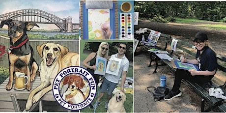 Paint and Sip Pet Portrait Dog Picnic- Carl Schurz Dog Run New York tickets