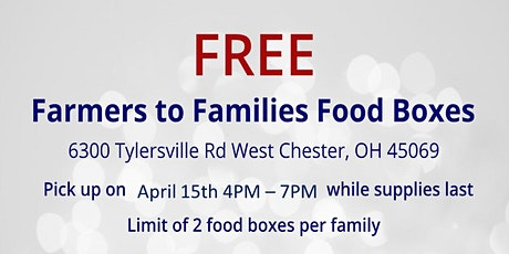 Farmers to Families Food Box Giveaway - April 15, 2021 tickets