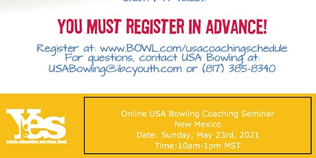 FREE USA Bowling Online Coaching Seminar - New Mexico tickets