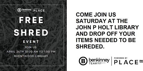 Shred Event - Brentwood Library tickets