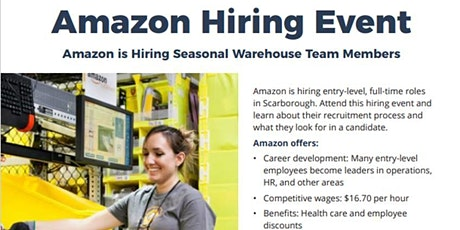 Amazon Hiring Info Session - Training Provided Toronto tickets