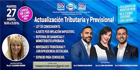 Actualización Tributaria y Previsional  2021 - Gratuito - Cupos limitados biglietti