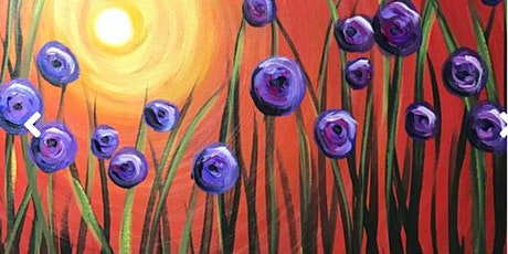 Virtual Painting  Purple Flowers tickets